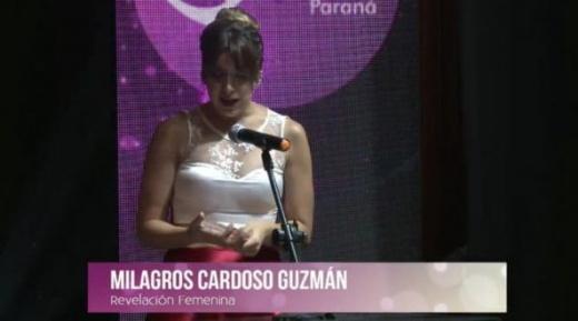 Premio ETER:  Milagros Cardoso Guzmán, revelación femenina 2016
