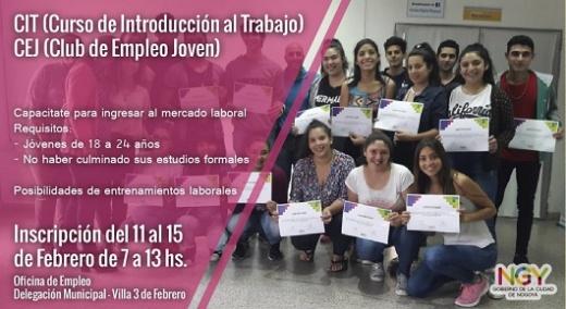 Está abierta la inscripción para un curso de introducción al Trabajo para jóvenes